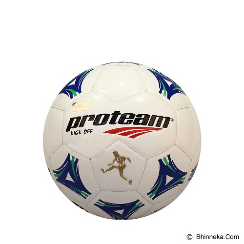 PROTEAM Bola Soccer Size 3 [Kick Off] - Blue/Green - Bola Sepak / Soccer Ball